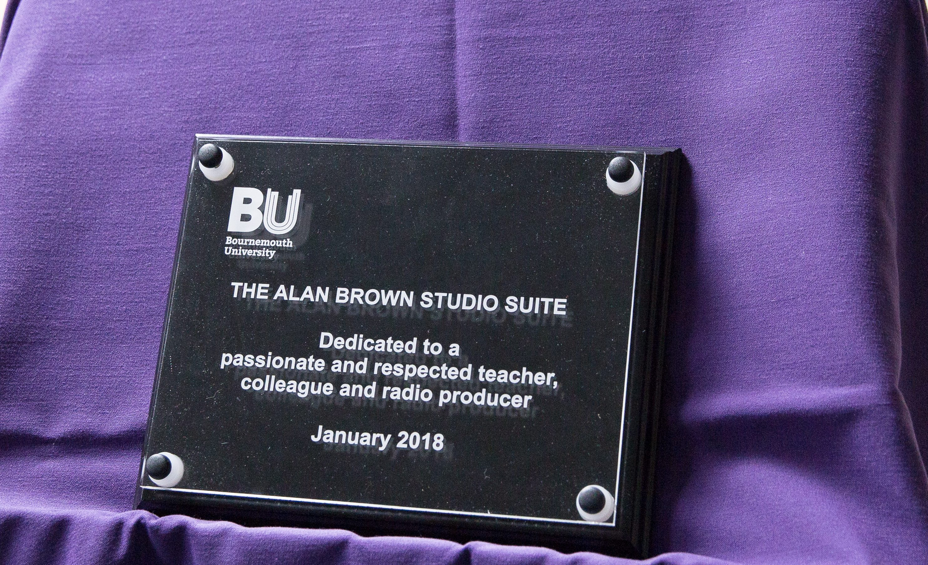 Alan Brown Dedication  – Listen and Read Again
